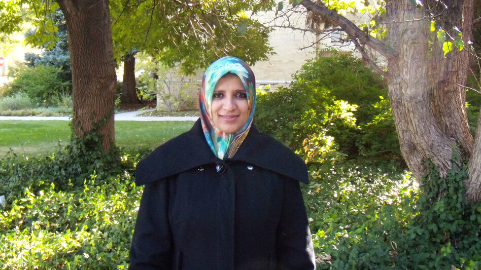 Hanan Isweiri is a Ph.D. student at Colorado State University. She flew to Libya in January to visit with family after her father's death. She was able to re-enter the U.S. Saturday. (Courtesy of Colorado State University)