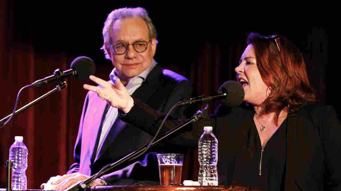 Kathleen Madigan with surprise guest Lewis Black on Ask Me Another at the Bell House in Brooklyn, New York.