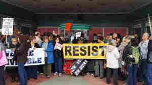 Hundreds Protest Trump At California Congressman's Town Hall