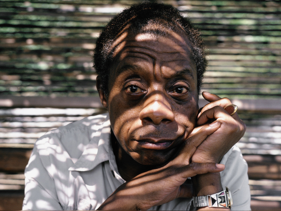 Writer James Baldwin at home in Saint Paul de Vence, South of France, in 1985. (Ulf Andersen/Getty Images)