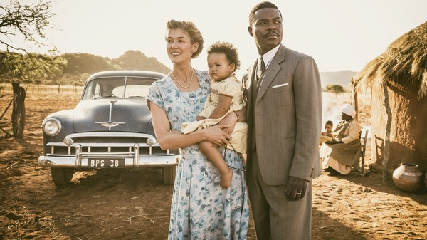 Before Botswana: Ruth (Rosamund Pike) and Seretse (David Oyelowo) present a united front in A United Kingdom.