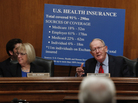 Sen. Lamar Alexander, R-Tenn., seen here with Sen. Patty Murray, D-Wash., at a Jan. 18 hearing of the Senate Health, Education, Labor and Pensions Committee, says he'd like to see the individual insurance market fixed before repealing Obamacare.
