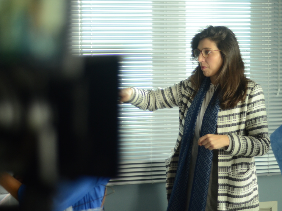 """Director Catalina Aguilar Mastretta behind the scenes of """"Everybody Loves Somebody."""" (Pantelion Films)"""
