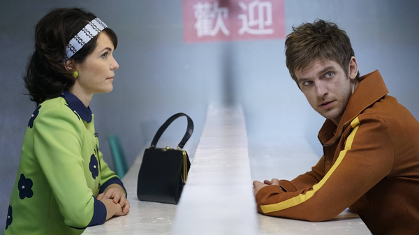 Katie Aselton and Dan Stevens appear in Legion, a new FX series inspired by the Marvel comic.
