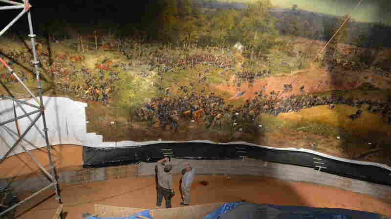 Atlanta Rolls Up, Moves An Old Oil Painting — All 374 Feet And 12 Tons Of It