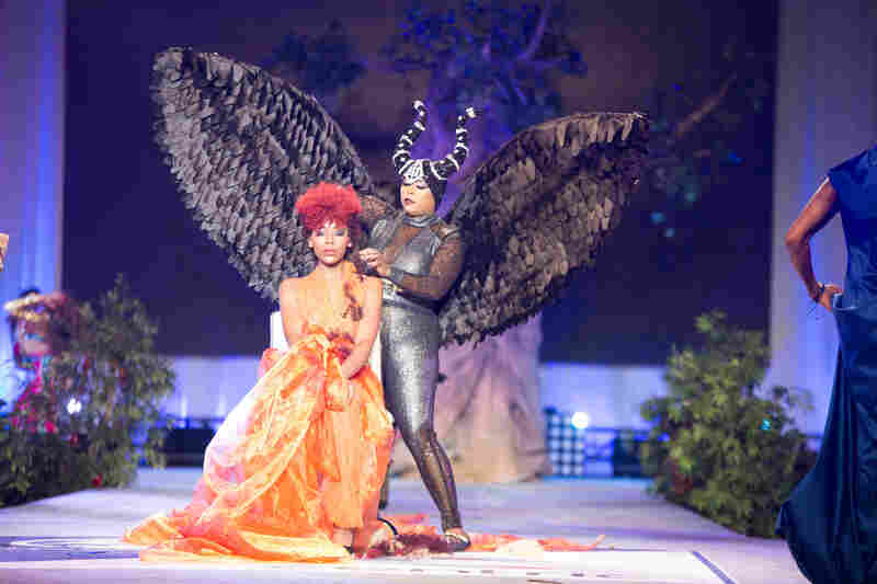 "Celebrity hairstylist Angela Stuckey wore a costume modeled after the movie Maleficent during the ""Legendary Hair Battle."" The hair competition was nationally televised."