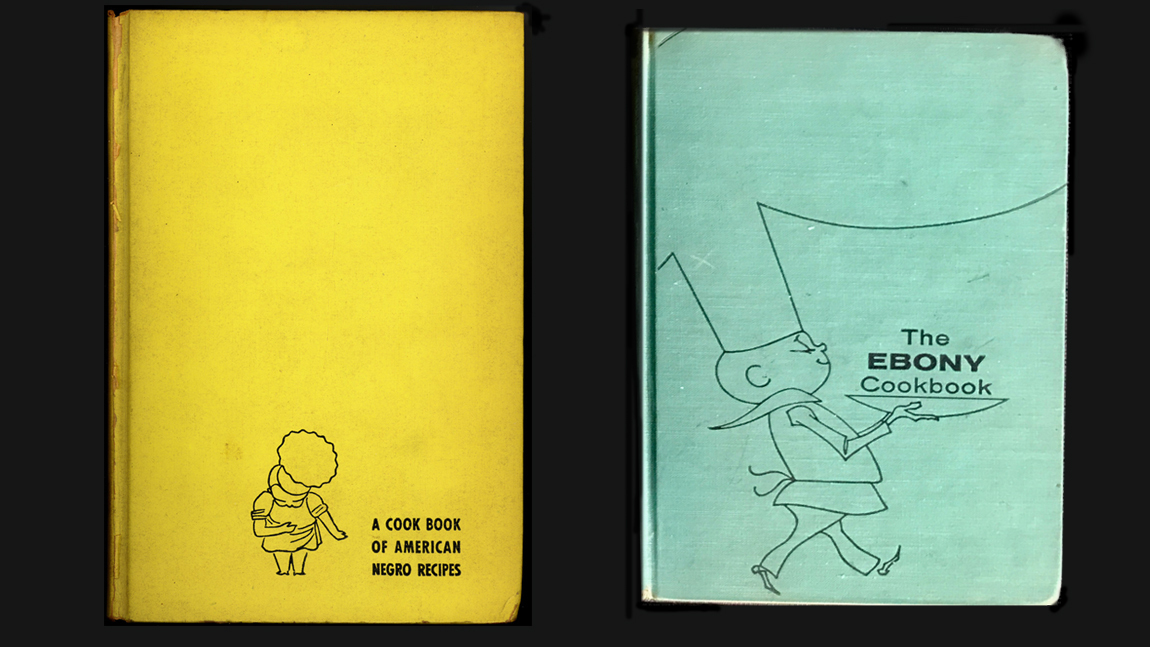 Covers from two editions of freda deknight s cookbook the first