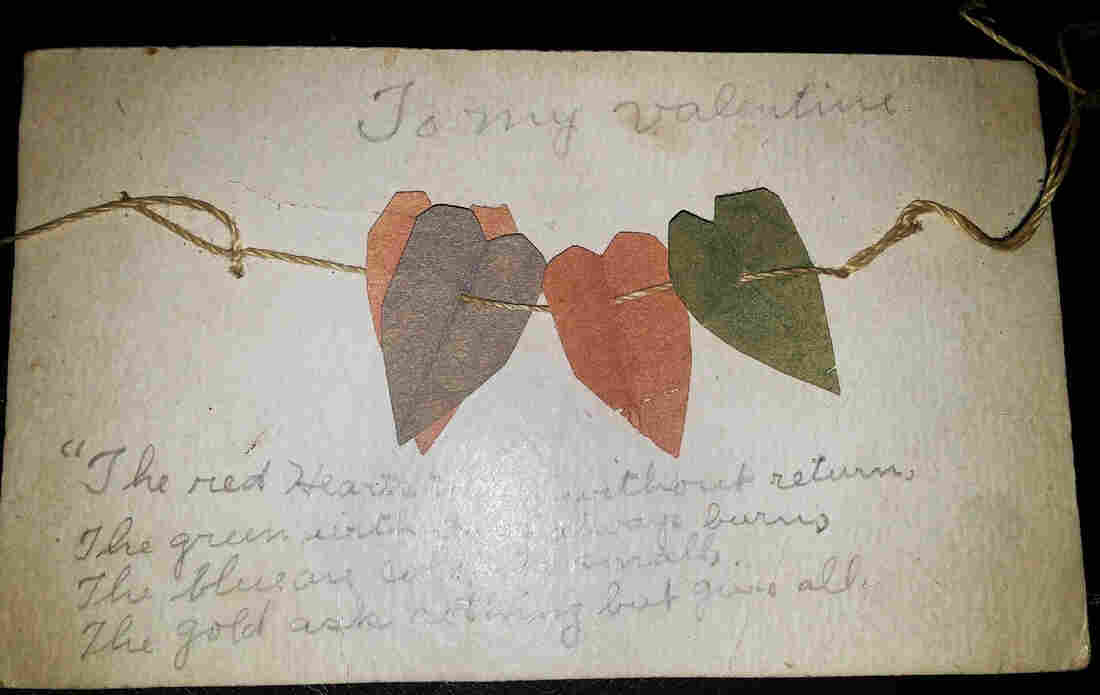 Chrissie Tomlinson treasures a valentine she found among her grandmother's possessions.