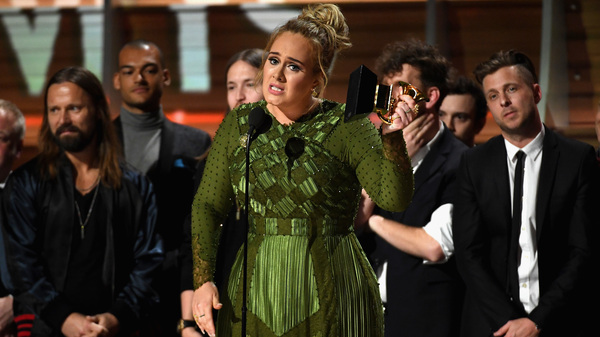 For the second time, Adele swept the major categories at the Grammys, winning Album, Song and Record of the Year.