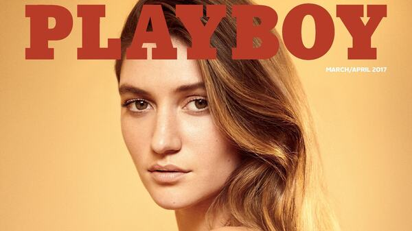 Elizabeth Elam is on the cover of Playboy