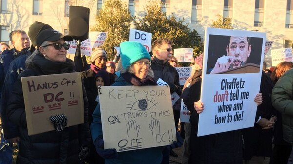 Protesters in favor of Washington, D.C