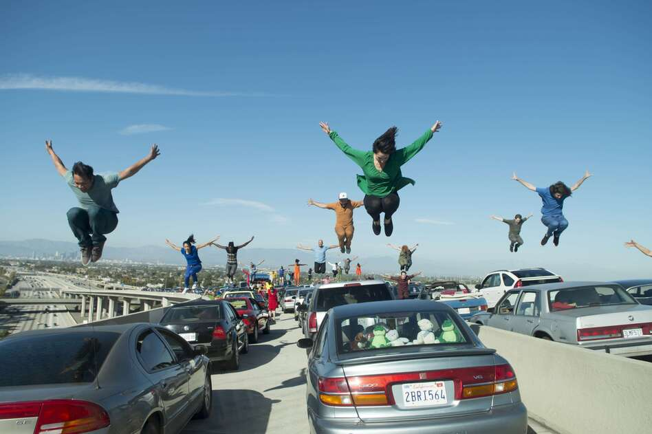 Choreographer Mandy Moore was lying <em>underneath</em> a car on the LA freeway, counting and calling out steps, throughout the 47 takes it took to shoot <em>La La Land</em>'s fun-filled opening scene. (Lionsgate)
