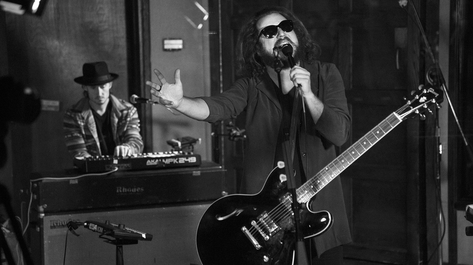 Jim James performs live in KCRW's studios.