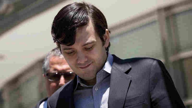 Despite Protests And A Fire Alarm, Martin Shkreli's Show Goes On At Harvard