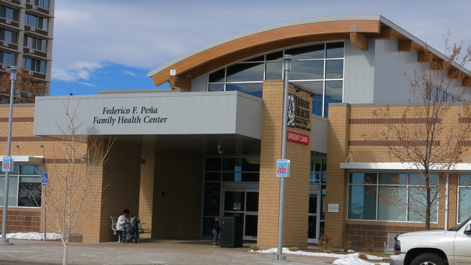 The Federico F. Peña Southwest Family Health Center opened in 2016 to serve a low-income community in Denver. The clinic and its parent system, Denver Health, have benefited financially from the Affordable Care Act and its expansion of Medicaid. (John Daley / Colorado Public Radio)