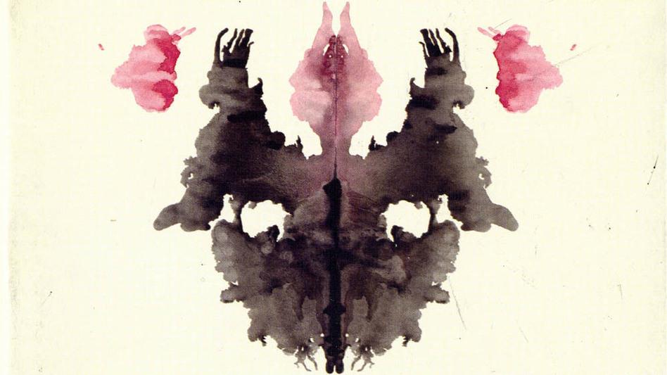 An early draft of Card III in Hermann Rorschach's psychological test. (Archiv und Sammlung Hermann Rorschach, University Library of Bern)