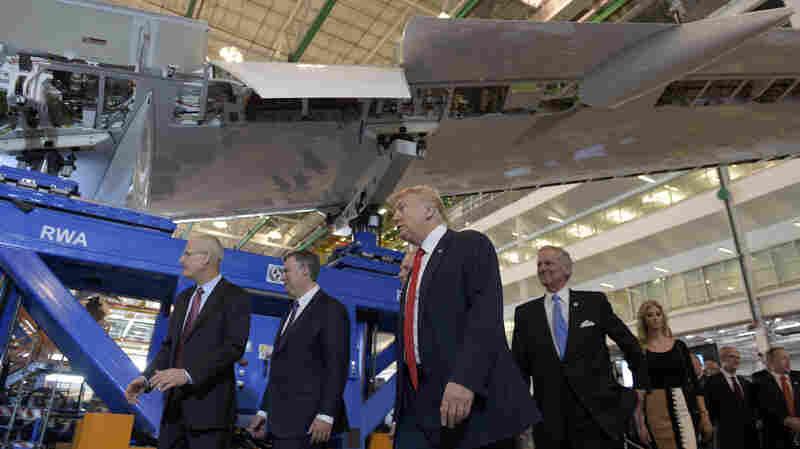 Trump Talks Jobs At Boeing Plant In South Carolina