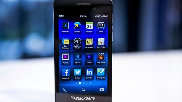 A Research In Motion Ltd. (RIM) Blackberry Z10.