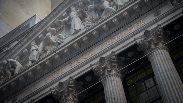 The exterior of the New York Stock Exchange on Feb. 10. A lobbying battle is being waged over a rule requiring financial advisers to act in their clients