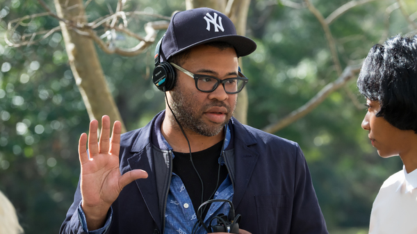 Writer/director/producer Jordan Peele on the set of Universal Pictures