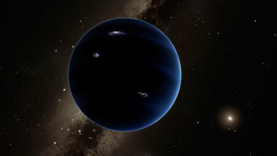 Artist conception of undiscovered planet, dubbed Planet 9.