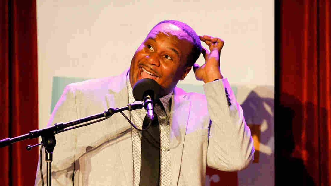 Roy Wood Jr. on Ask Me Another at The Bell House in Brooklyn, New York.