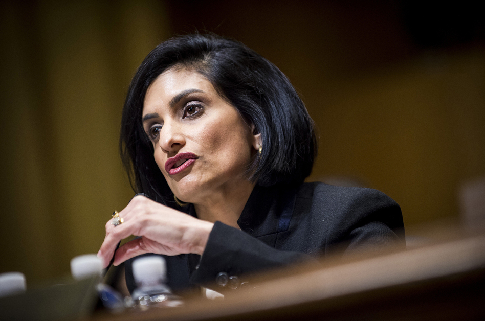 Seema Verma, who is President Trump's nominee to head the Centers for Medicare & Medicaid Services, has said that maternity benefits should be optional. (Pete Marovich/Bloomberg via Getty Images)