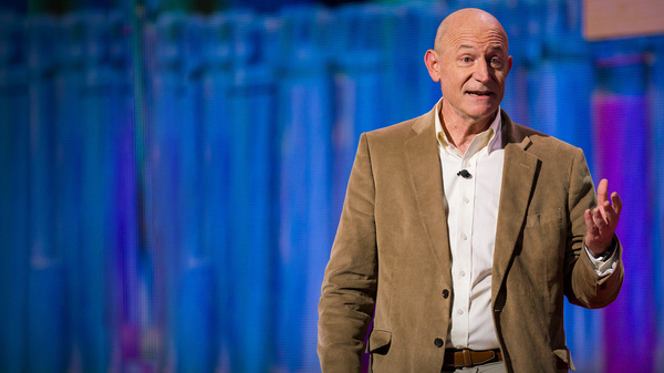 Eric Haseltine on the TED stage in New York, NY.