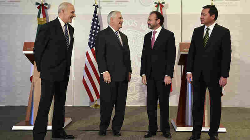 Amid U.S.-Mexico Strains, Tillerson And Kelly Take On 'Tough Trip'