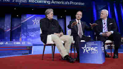 Top Trump Advisers Bannon And Priebus Emphasize Unity At CPAC