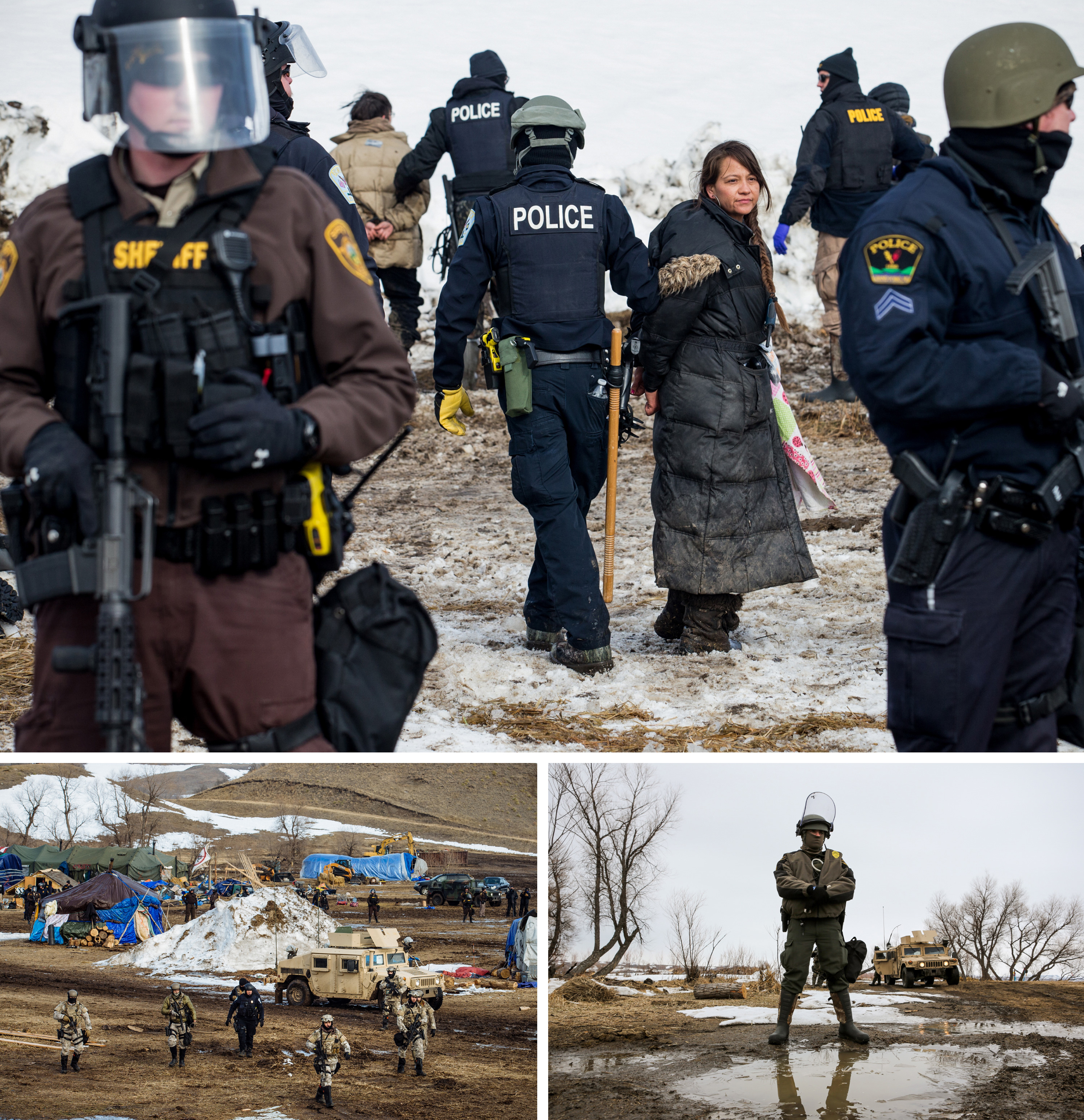 PHOTOS: The Final Hours Of A Dakota Access Pipeline Protest Camp