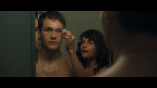 Anthony (Taylor John Smith) and mother Jenny (Carla Gugino) share a reflective moment in Wolves.