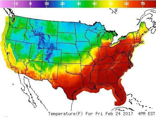 71 Degrees In February: Temperatures In Boston And Buffalo Rewrite ...