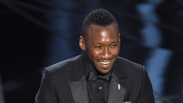 "Mahershala Ali accepts the award for best actor in a supporting role for ""Moonlight"" at the Oscars on Sunday, at the Dolby Theatre in Los Angeles."