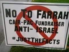 """Farrah Khan said that during her city council campaign in Irvine, Calif., an opponent made a sign falsely accusing her of being """"anti-Israel."""""""