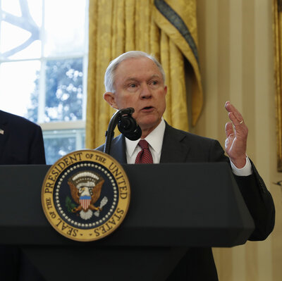 Attorney General Jeff Sessions Focuses On Violent Crime And Police Morale