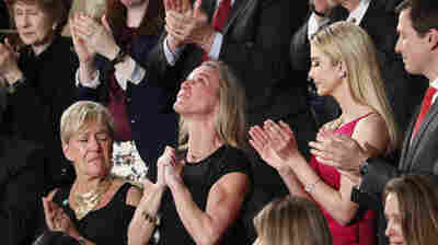 In Emotional Moment Of Speech, Trump Addresses Navy SEAL's Widow