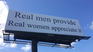 Billboard About Gender Roles Sparks Debate, Protest In North Carolina