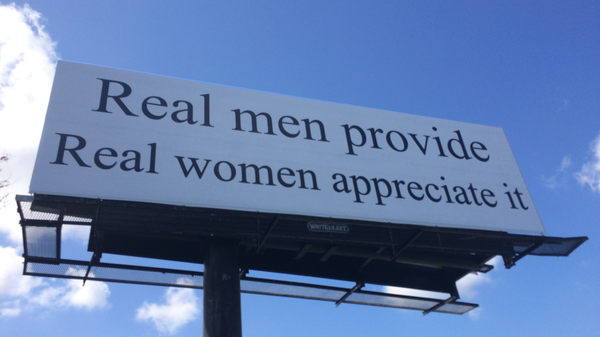 The billboard behind the controversy sits off of Business 40 Westbound outside of Winston-Salem, N.C.