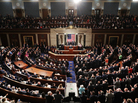 """While President Trump projected a sunnier outlook than he had in other major addresses, he also reiterated the """"America first"""" theme several times during his speech to the joint session of Congress."""