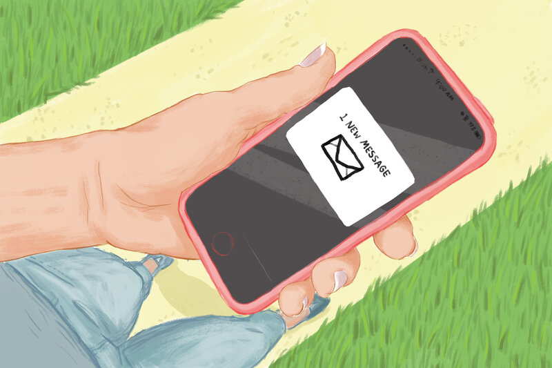 texting a single mom