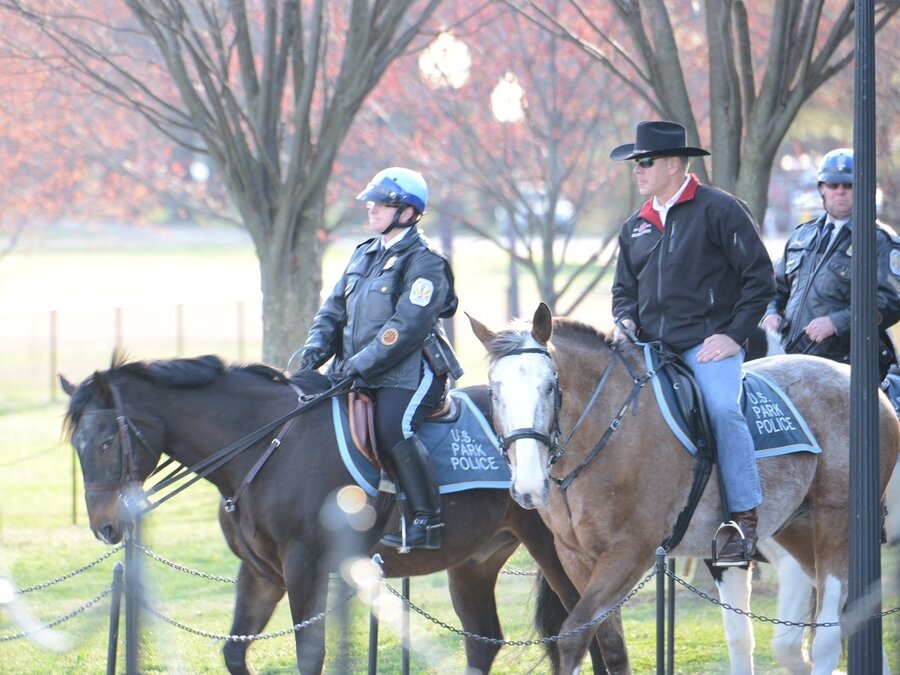 New Interior Secretary Rides A Horse To First Day On The Job