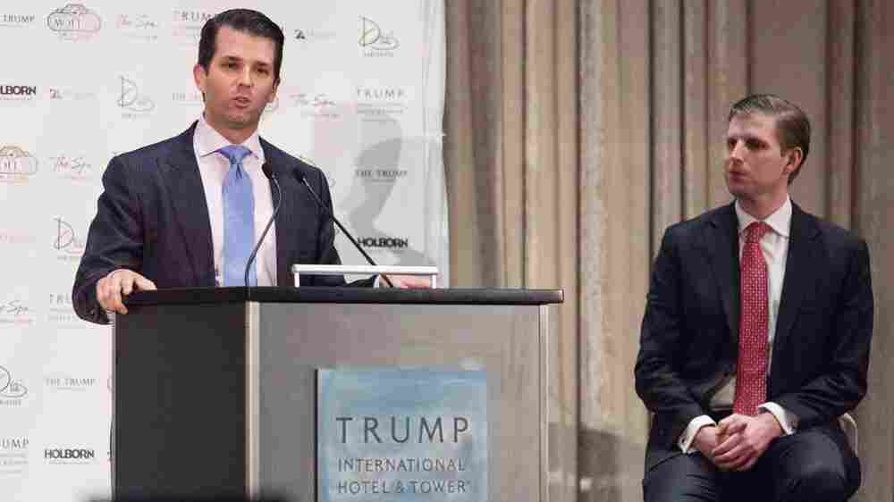 These Days, Business Travel By Trump's Sons Is Costly And Complicated