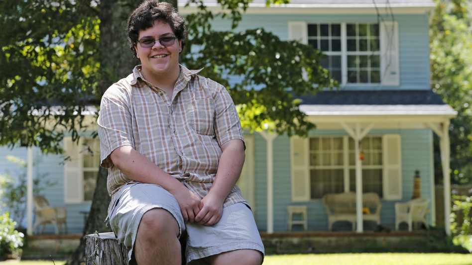 The case of transgender high school student Gavin Grimm, seen here last year, has been sent back to a lower court by the Supreme Court. (Steve Helber/AP)