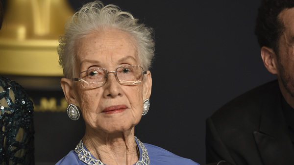 NASA mathematician Katherine Johnson, pictured at the 2017 Academy Awards, was one of the women profiled in the book and film Hidden Figures. She died Monday at 101.