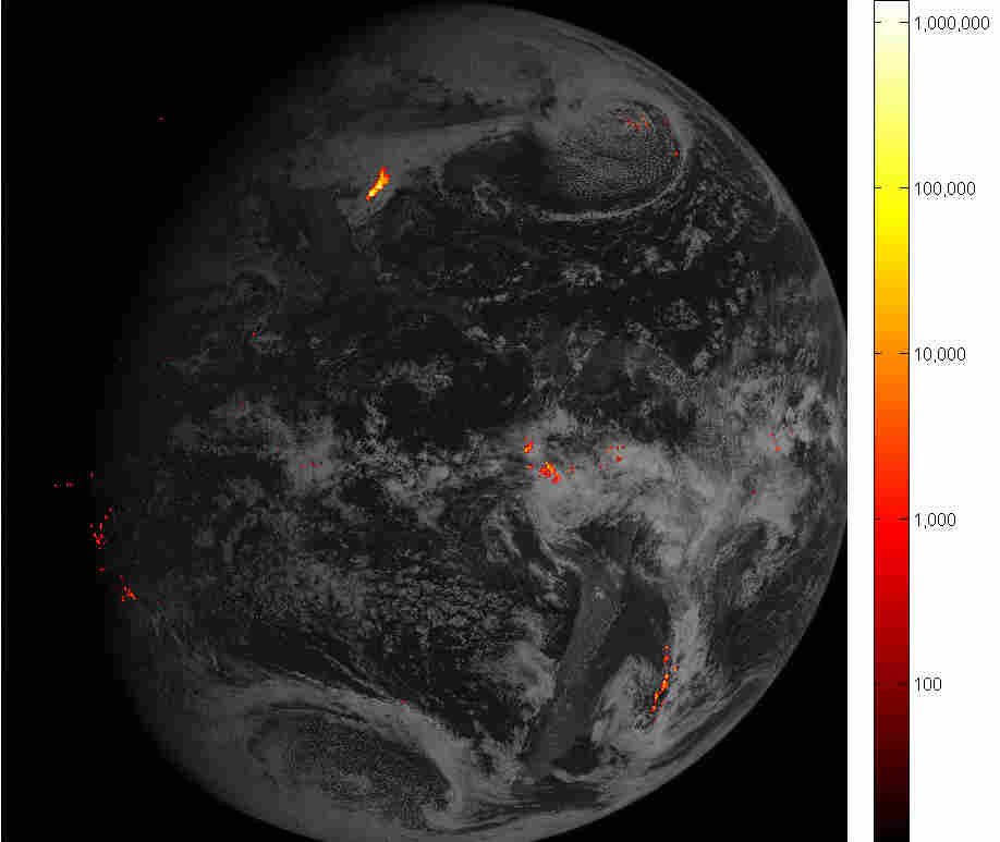 Lightning Storm On Earth Captured By NOAA Weather Satellite
