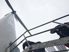 Climbing the TSTC wind turbine in Sweetwater.