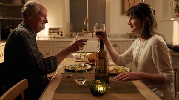 To Denial!: Tony (Jim Broadbentt) and Margaret (Harriet Walter) in The Sense of an Ending.