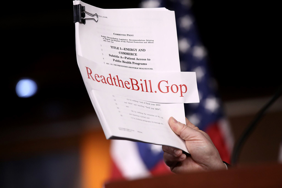 Republicans on Monday evening unveiled their long-awaited plan to repeal and replace the Affordable Care Act. (Win McNamee/Getty Images)