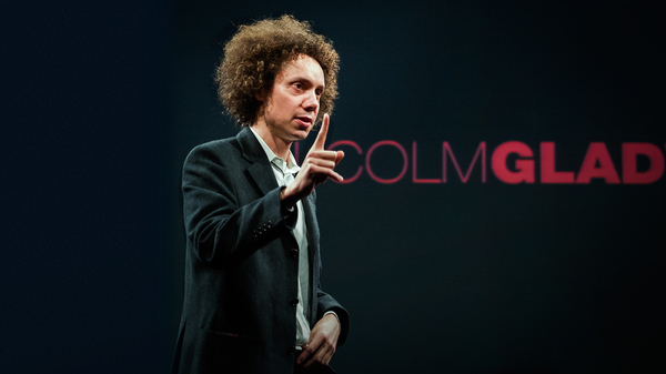 Malcolm Gladwell on the TED Stage.